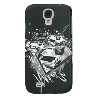 Supergirl Black and White Galaxy S4 Case
