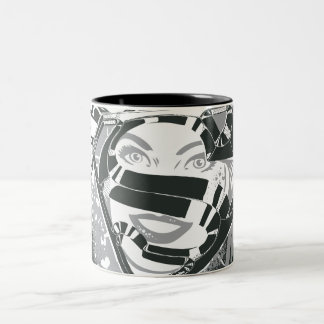 Supergirl Black and White Two-Tone Coffee Mug