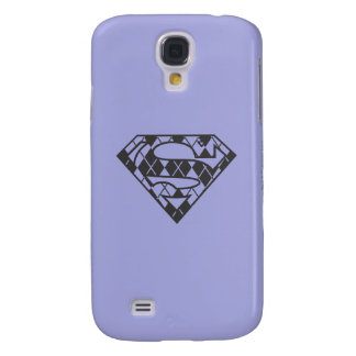 Supergirl Black Argyle Logo Galaxy S4 Case