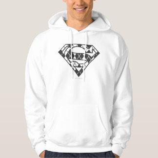 Supergirl Black Argyle Logo Hoodie