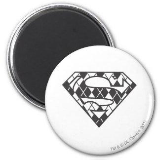 Supergirl Black Argyle Logo Magnet
