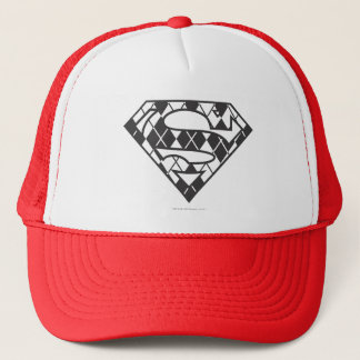 Supergirl Black Argyle Logo Trucker Hat