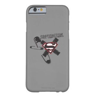 Supergirl Black Safety Pins Barely There iPhone 6 Case