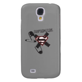 Supergirl Black Safety Pins Galaxy S4 Case