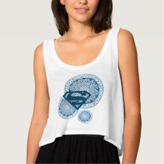 Supergirl Blue Circle Design Tank Top