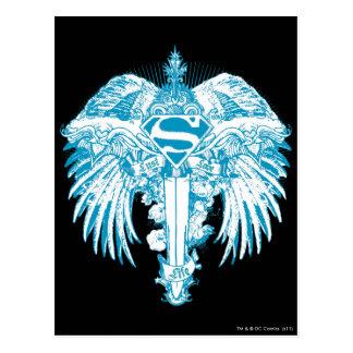 Supergirl Blue Wings Postcard