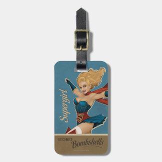 Supergirl Bombshell Luggage Tag