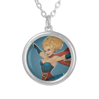 Supergirl Bombshell Silver Plated Necklace