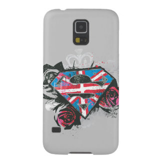 Supergirl British Flag and Roses Case For Galaxy S5