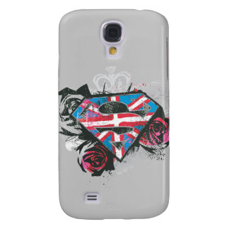 Supergirl British Flag and Roses Galaxy S4 Case