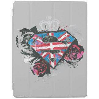 Supergirl British Flag and Roses iPad Cover