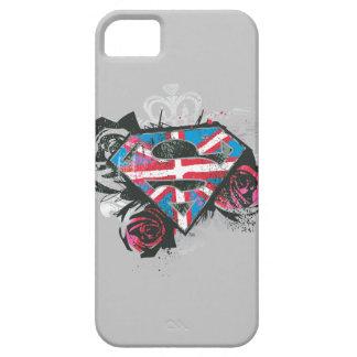 Supergirl British Flag and Roses iPhone 5 Cases