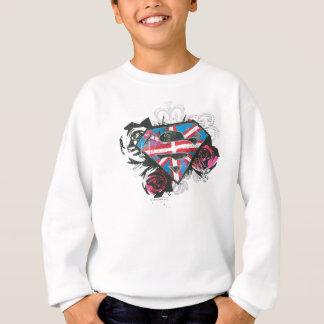 Supergirl British Flag and Roses Sweatshirt