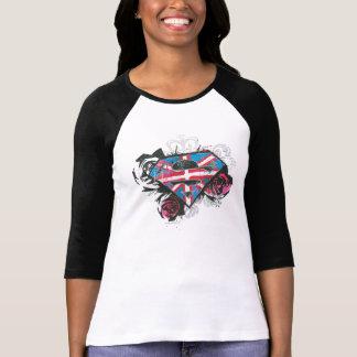 Supergirl British Flag and Roses T-Shirt