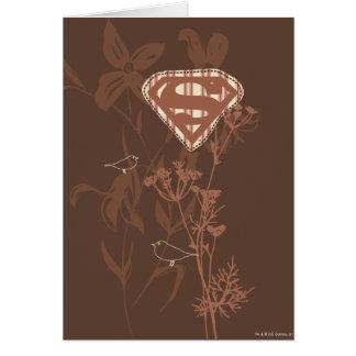 Supergirl Brown Bird Card