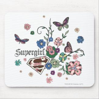 Supergirl Butterflies Mouse Mat