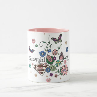 Supergirl Butterflies Mug