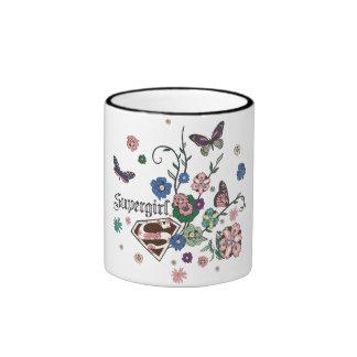 Supergirl Butterflies Ringer Mug