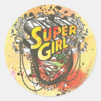 Supergirl Chains Classic Round Sticker