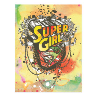 Supergirl Chains Postcard