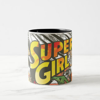Supergirl Chains Two-Tone Coffee Mug