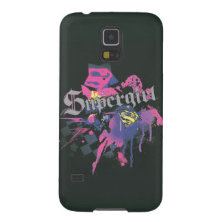 Supergirl Checkered Splatter Galaxy S5 Cover