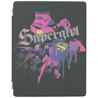 Supergirl Checkered Splatter iPad Cover
