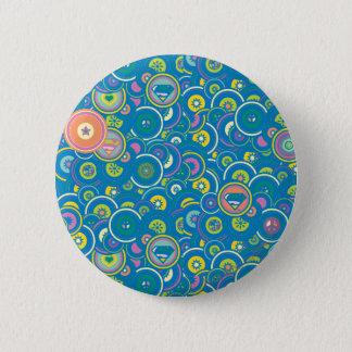 Supergirl Circle Blue Pattern 6 Cm Round Badge