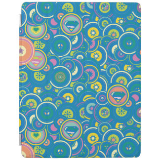 Supergirl Circle Blue Pattern iPad Cover