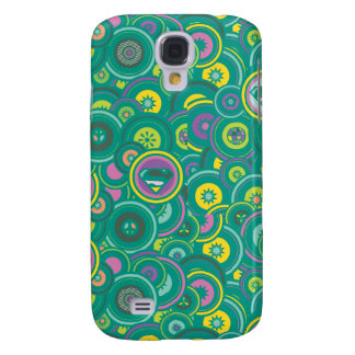 Supergirl Circle Green Pattern Galaxy S4 Case