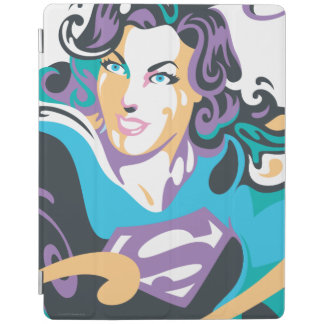 Supergirl Color Splash Swirls 1 iPad Cover