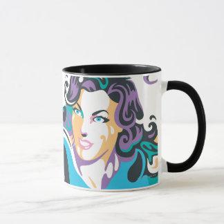 Supergirl Color Splash Swirls 1 Mug