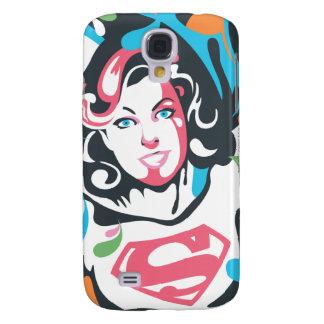 Supergirl Color Splash Swirls 3 Galaxy S4 Case