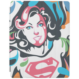 Supergirl Color Splash Swirls 3 iPad Cover