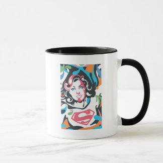 Supergirl Color Splash Swirls 3 Mug