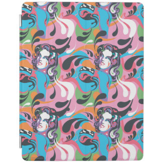 Supergirl Color Splash Swirls Pattern 2 iPad Cover