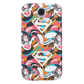 Supergirl Color Splash Swirls Pattern 4 Galaxy S4 Case