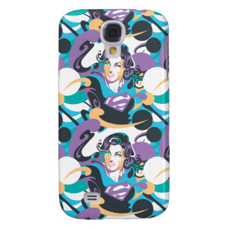 Supergirl Color Splash Swirls Pattern 5 Galaxy S4 Case