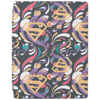 Supergirl Color Splash Swirls Pattern 8 iPad Cover