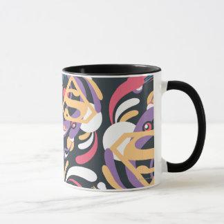 Supergirl Color Splash Swirls Pattern 8 Mug