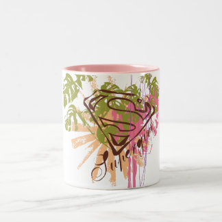 Supergirl Color Splash Two-Tone Coffee Mug