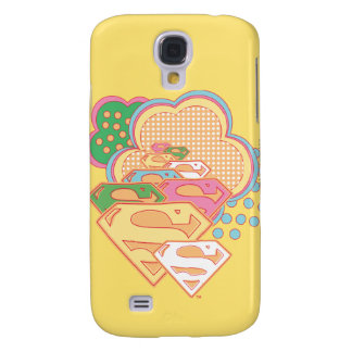 Supergirl Colorful Cloud Logo Galaxy S4 Case