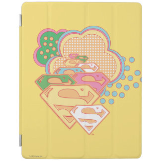 Supergirl Colorful Cloud Logo iPad Cover