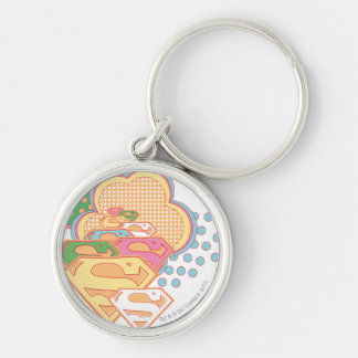 Supergirl Colorful Cloud Logo Key Ring