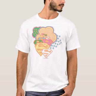 Supergirl Colorful Cloud Logo T-Shirt