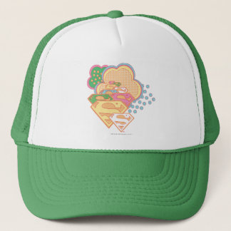 Supergirl Colorful Cloud Logo Trucker Hat