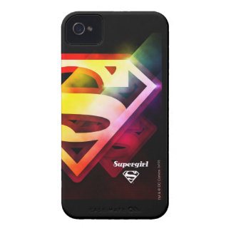 Supergirl Colorful Logo iPhone 4 Case