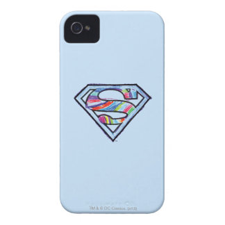 Supergirl Colorful Sketch Logo iPhone 4 Case-Mate Cases