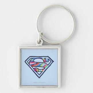 Supergirl Colorful Sketch Logo Key Ring