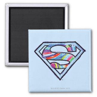Supergirl Colorful Sketch Logo Magnet
